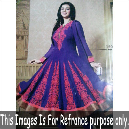 Embroidered Cotton Churidar Suit