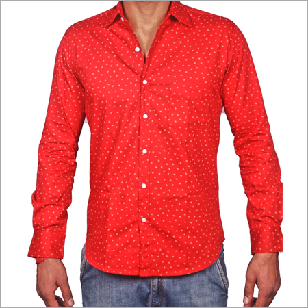 Red Casual Shirts