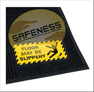 Scraper/Wiper Sign Mats - Floor May Be Slippery