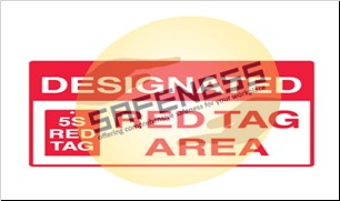 Red Tag Area Signs - Designated Red Tag Area