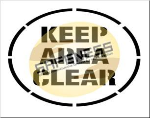 Keep Area Clear Floor Stencil
