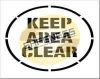 Keep Area Clear Floor Stencil