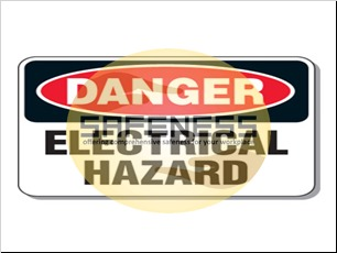 Electrical Safety Signs - Danger Electrical Hazard
