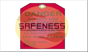 Scaffold Status Tags - Danger Do Not Use Keep Off