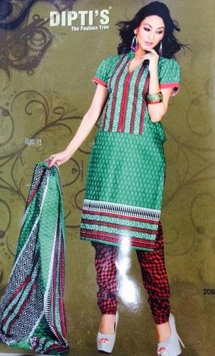 Diptis Cotton Printed Dress Material