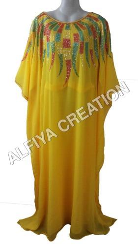 Multi Colors Embroidery Farasha Kaftan