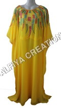 Multi Colors Embroidery Farasha Kaftan