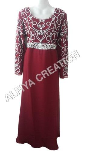 Exclusive Crystal Work Moroccan Maxi Dress Kaftan