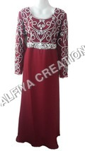 Exclusive Crystal Work Moroccan Maxi Dress Kaftan