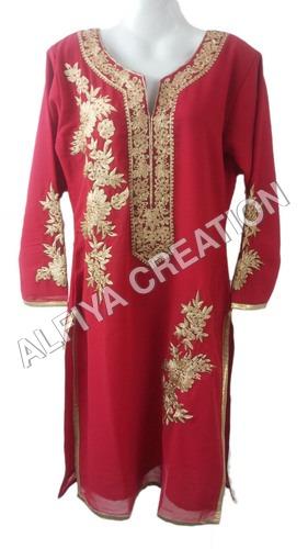 Designer Long Sleeves Kurti Long Blouse