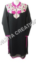 Two Tone Color Thready Embroidery Fancy Kurti Tunic