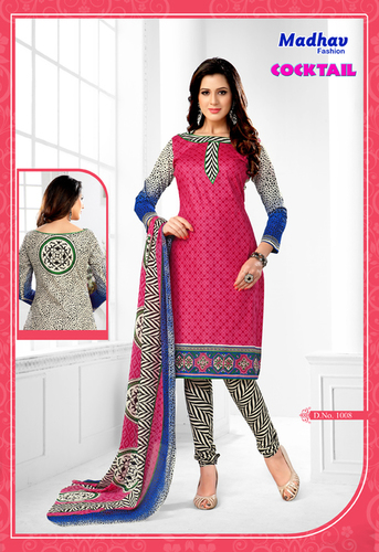 Madhav Cotton Printed Dress Material