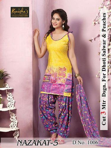 Nazzakat patiyala Cotton Printed Dress Material
