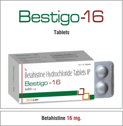 Betahistine Hydrochloride 16 mg.