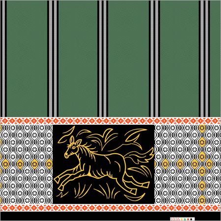 Multicolored Animal katari lungi