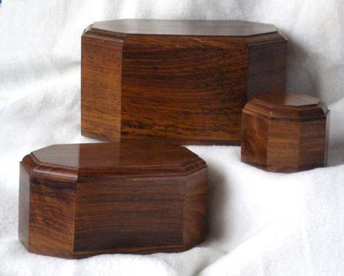 Octagonal Wooden Urn