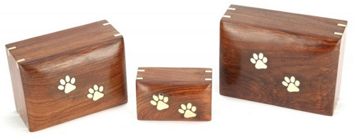 Paw Print Wooden Urns