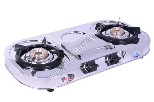 2 Burner SS Gas Stove Oval Plus