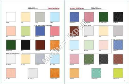 300*300 MM Glaze Ceramic Floor Tiles Plain Color