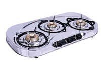 3 Burner SS Gas Stove Oval Rainbow