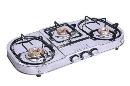 3 Burner SS Gas Stove Step