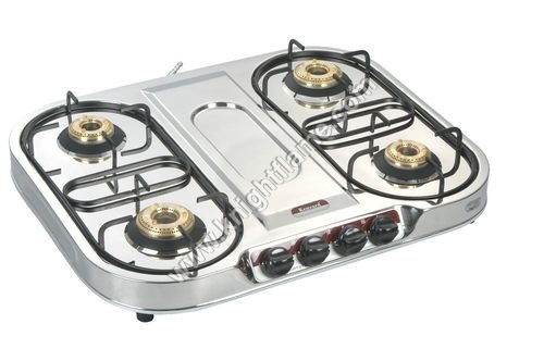 4 Burner SS Gas Stove Oval Smart