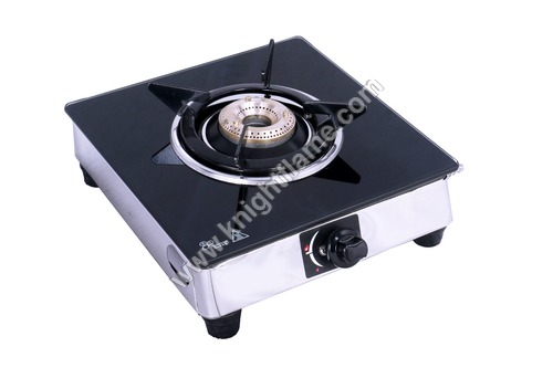 Single Gas Stove Burner Black