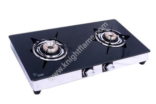 2 Burner Gas Stove Black
