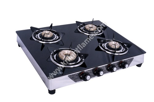 4 Burner  Gas Stove Black