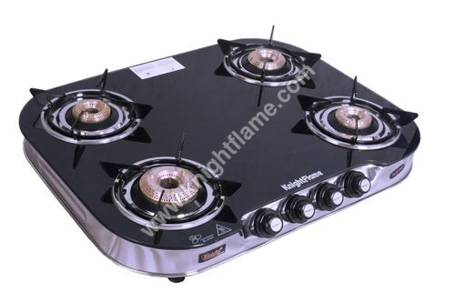 4 Burner Plus Black