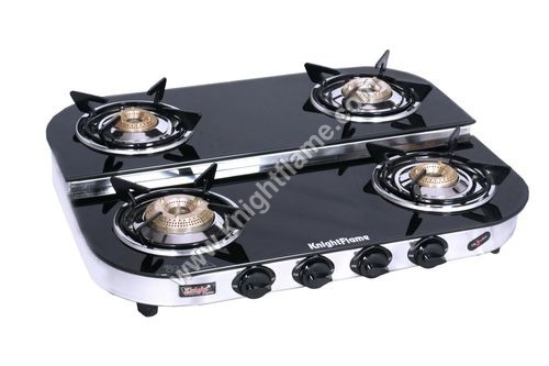 4 Burner Step Black