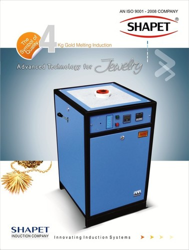 Induction Based Gold Melting Machine 3 Kg. In Three Phase