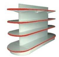 Round Head Double Shelves Side Rack