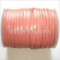 Pink Leather Laces 5mm