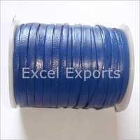 Blue Leather Laces 4mm