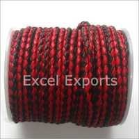 Multi Color Braided Leather Cord