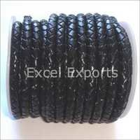 Black Braided Leather Cord