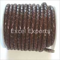 Brown Color Braided Leather Cord
