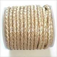 Braided White Leather Cords