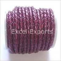 Braided Purple Leather Cords