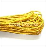 Braided Yellow Leather Cords