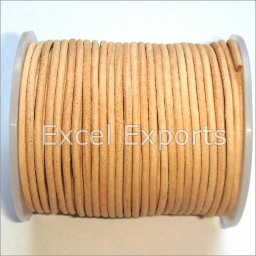 Natural Round Leather Cords