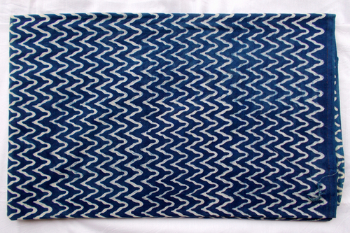 New Zig-Zag Lining Indigo Dabu Hand Block Print Design10