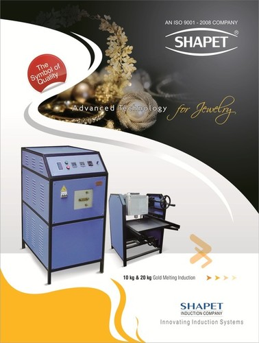 induction Based Copper Melting Machine 5 kg. With Tilting Unit