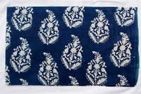 New Blue Paisley Indigo Dabu Hand Block Printed Fabric Running Design14