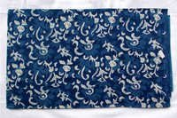 New floral Jaal Indigo Dabu Blue Hand Block Printed