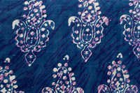 Big Mughal Paisley Hand Block Printed Indigo Dabu Fabric Design18