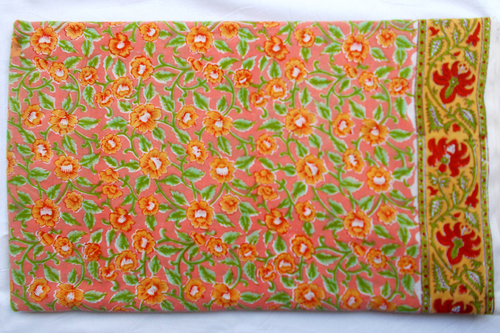 New Rapid Floral Design Hand Block Printed Fabric 100% Cotton Running