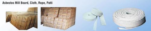 Asbestos mill board,cloth, Rope, Patti