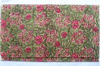 Old Traditional Mughal Flower Jaal Hand Block Print 100% Cotton Fabric